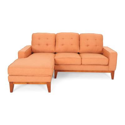 Orange - L Shape - Sectionals - Living Room Furniture - The Home Dep