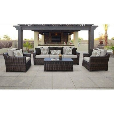 Explore Gallery of Oreland Patio Sofas With Cushions (Showing 18 .