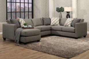 Benchley Orlando 3 pc Orlando slate fabric upholstered sectional .