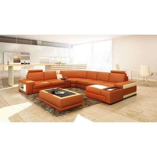 Shop Orlando Leather/Hardwood 6-piece Sectional Sofa - On Sale .