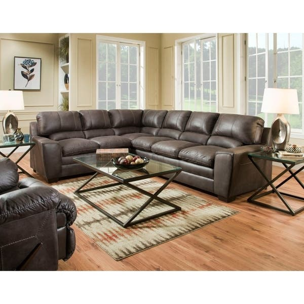 Shop Simmons Upholstery Orlando Sectional Sofa - Overstock - 224384