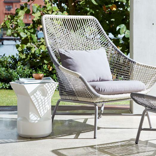 Huron Outdoor Lounge Chair & Cushi
