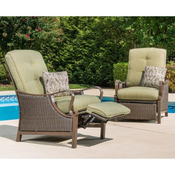 Hanover Ventura Reclining Wicker Outdoor Lounge Chair with Vintage .