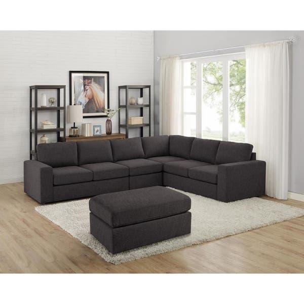 Shop Copper Grove Colomiers Dark Grey Modular Sectional Sofa .