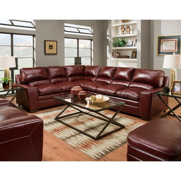 Shop Simmons Upholstery Charlotte Sectional Sofa - Overstock .