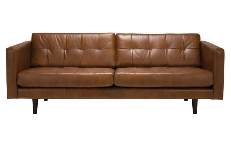 OXFORD WAS $2999 - Our Collections | Brown leather sofa, Leather .