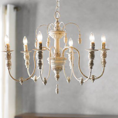 Paladino 6-Light Candle Style Classic / Traditional Chandelier .