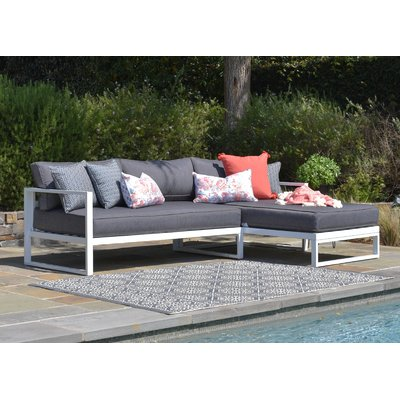 Elle Decor Paloma Sectional with Cushions | Outdoor sofa, Outdoor .