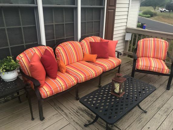 CUSTOM Outdoor Patio Furniture Replacement Cushion Covers with   Et