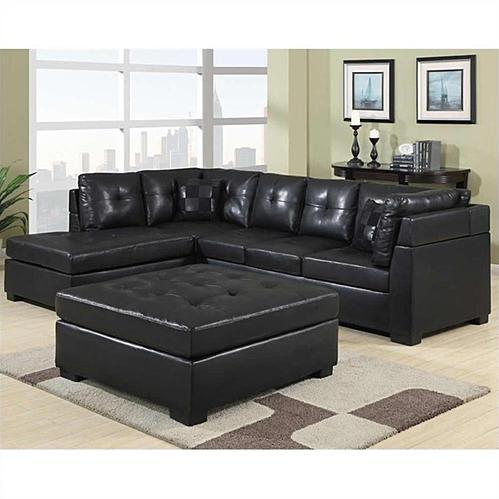 Black Reversible Sectional So