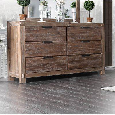 Union Rustic Perez 6 Drawer Dresser | Double dresser, Dresser .