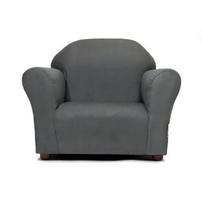 Zoomie Kids Jovanni Personalized Kids Chair Color: Charcoal .
