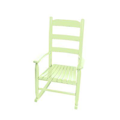 Harriet Bee Rencher Wood Rocking Kids Chair | Rocking chair .