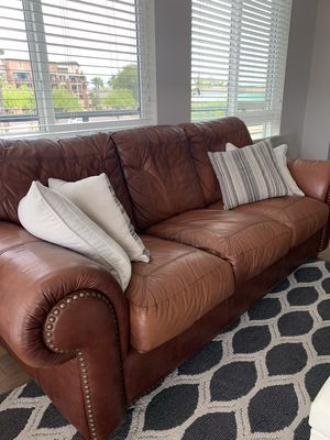 New and Used Leather couch for Sale in Phoenix, AZ - Offer