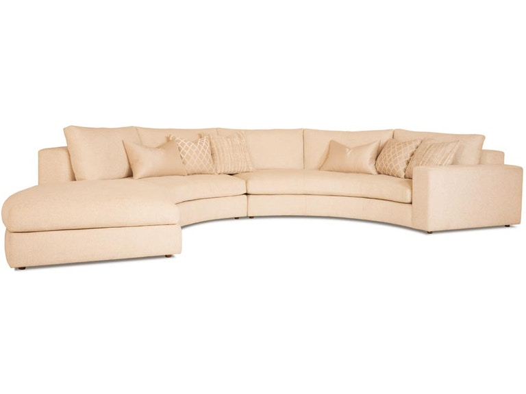 RC Furniture Living Room Ellae Curved Sectional - Thomasville of .