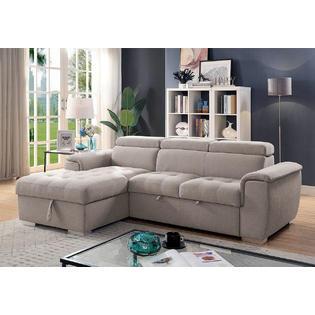 Furniture of America Living Room Furniture Sectional Sofa Plush .