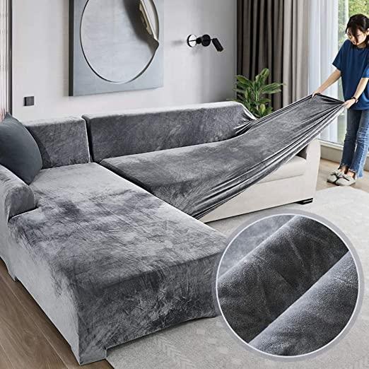Amazon.com: Velvet Plush Couch Cover, Stretch Sofa Cover Slipcover .