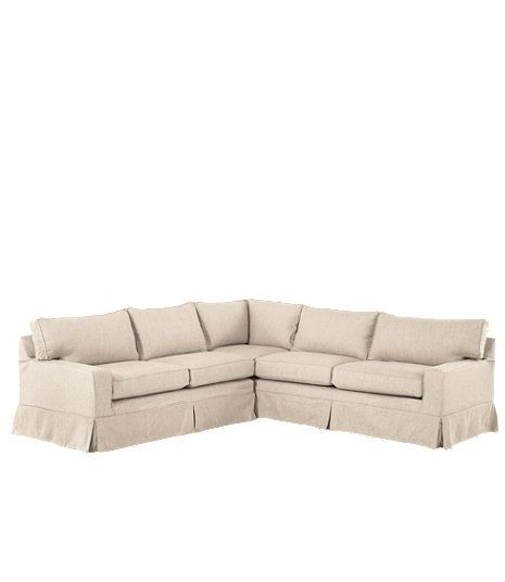 Portland Slipcovered Sectional Sofa | Sectional sofa slipcovers .