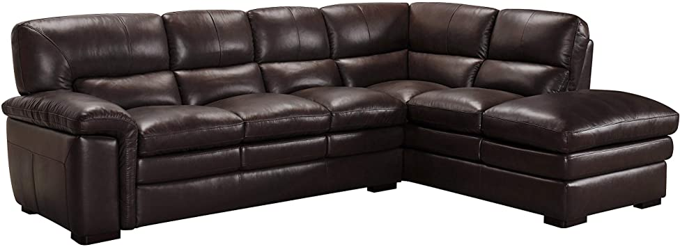 Amazon.com: SOFAWEB.COM Portland Premium Top Grain Brown Leather .