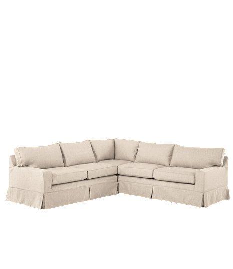 Portland Slipcovered Sectional Sofa | Sectional sofa slipcovers .