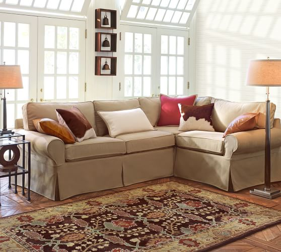 PB Basic Slipcovered 3-Piece Sectional | Pottery Ba