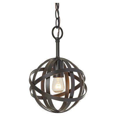 Prange 1-Light Single Globe Pendant | Pendant lighting, Light .