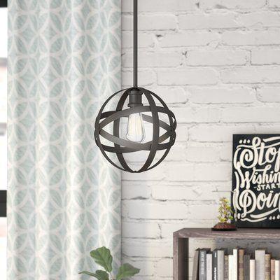 Wrought Studio Prange 1-Light Single Globe Pendant Finish: Rubbed .