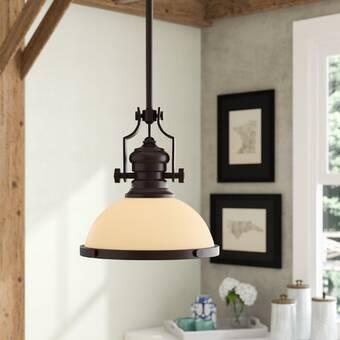 Breakwater Bay Priston 1-Light Single Dome Pendant & Reviews | Wayfa
