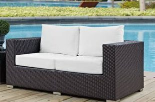 Latitude Run® Provencher Patio Loveseat with Cushions & Reviews .
