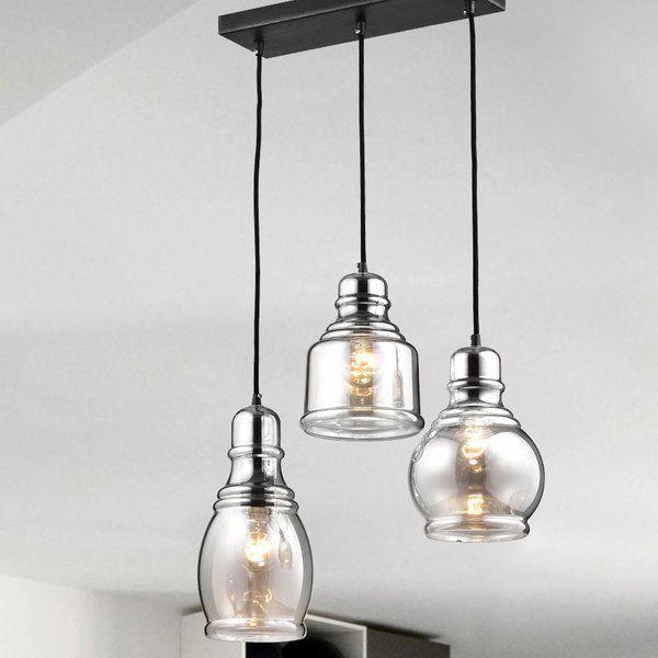 Pruett Cognac 3-Light Cluster Bell Pendant | Pendant lighting .