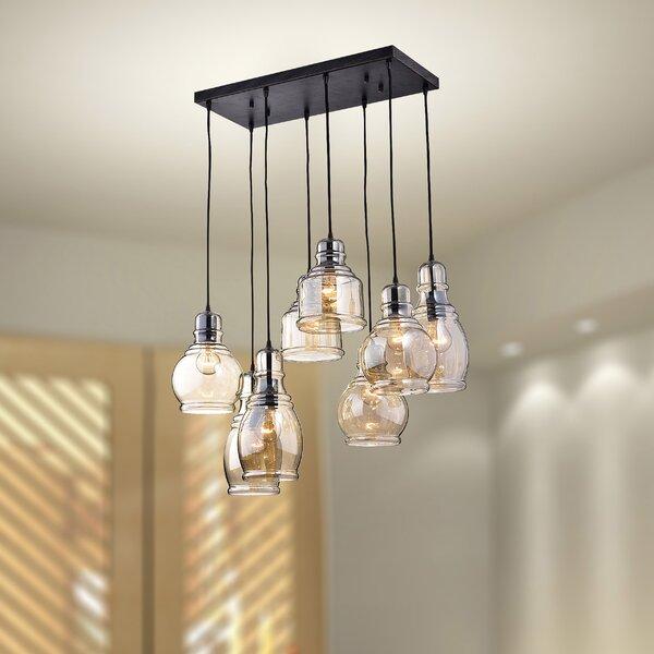 Gracie Oaks Pruett 8 - Light Cluster Jar Pendant & Reviews | Wayfa