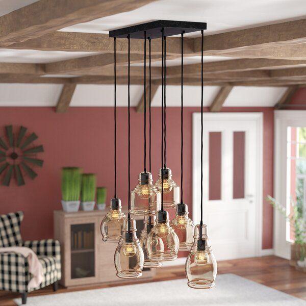 Pruett 8 - Light Cluster Jar Pendant | Cluster pendant lighting .