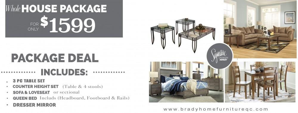 Brady Furniture Store Davenport Iowa, an Ashley Furniture Retail .