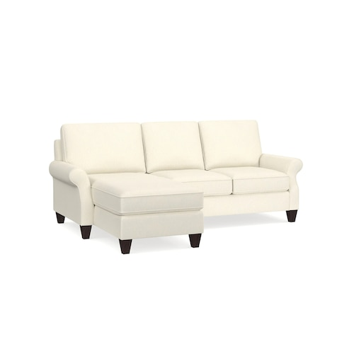 Fabric Seating Davenport Small Left Chaise Sectional 2716-LCSEC
