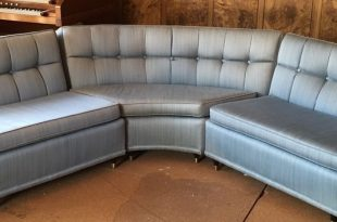 Vintage 1950's Blue Sectional Davenport Couch | Blue sectional .