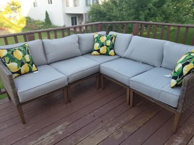 Better Homes & Gardens Davenport 7-Piece Woven Outdoor Sectional .