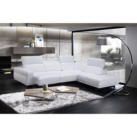 J&M Furniture Davenport Sectional Sofa | White sectional sofa .