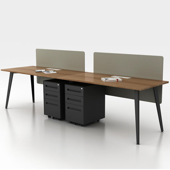 China Simple Steel Legs High Quality 2 Person Office Computer .