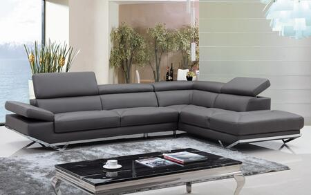 VIG Furniture Divani Casa Quebec Faux Leather Sectional Sofa .