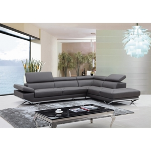 Divani Casa Quebec Sectional Sofa - Dark Gray | DCG Stor