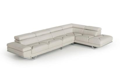 Jared Divani Casa Quebec Modern Light Grey Eco-Leather Large .