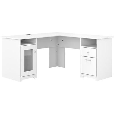 "Bush Furniture Cabot 60"" L-Shaped Computer Desk, White (WC31930K ."