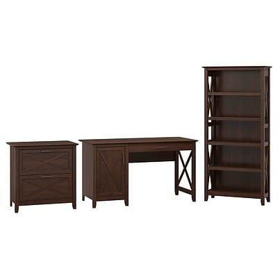 Bush Furniture Key West 54W Computer Desk with Storage, 2 Drawer .