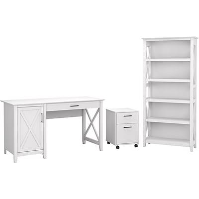 "Bush Furniture Key West 54"" Computer Desk with 2-Drawer Mobile ."