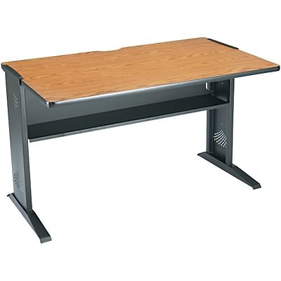 Safco® Reversible Top Stationary Computer Desks; Mahogany/Medium .