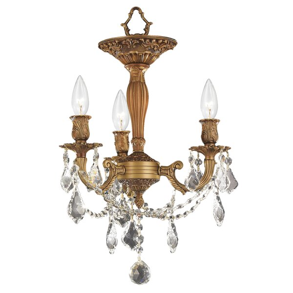 "Astoria Grand Radtke 3 - Light 13"" Chandelier Style Geometric Semi ."