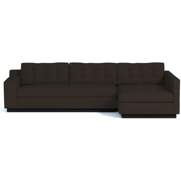 Apt2B Raleigh Espresso Dark Brown 2Pc Sectional (£2,135) ❤ liked .