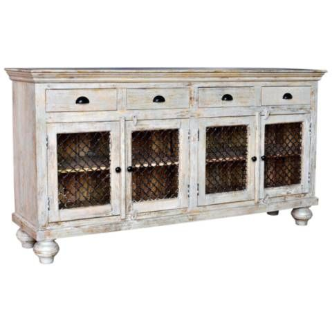 Make this Bengal Manor four-door sideboard an antique and .