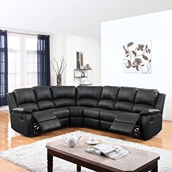 Amazon.com: Divano Roma Furniture Classic and Traditional Bonded .