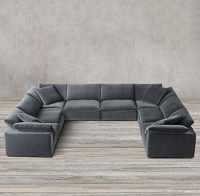 Cloud Modular U-Sofa Sectional | Sectional sofas living room .